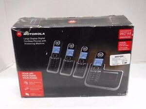 Motorola 4 Headset Cordless Phone Set. We Sell used Phones. 113502