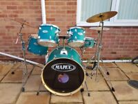 Mapex Fusion drum kit with 3 cymbal pack