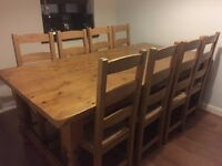 Beautiful 8 seater Dinning table and chairs