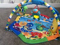 Baby playing mat with toys
