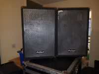 4 prosound speakers 500w and 400w