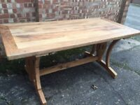 **Stunning** Reclaimed Elm, Six Seater Dining Table, New / Boxed