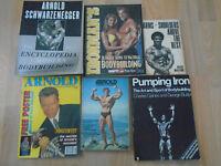 5 bodybuilding books + 1 magazine Arnold Schwarzenegger Rick Wayne