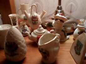 CRESTED CHINA COLLECTABLE ORNAMENTS X 14 PIECES