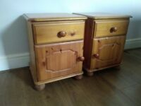 Pair of Pine Bedside Cabinets for sale