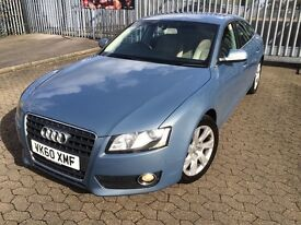 Audi A5 2010. Petrol, manual, 5 doors hatchback, sportback, leather seats, Hpi clear, FSH, clean car