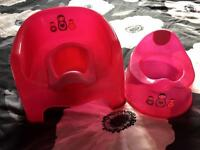 Pink Potty chair and Potty from toys r us. Excellent Condition.