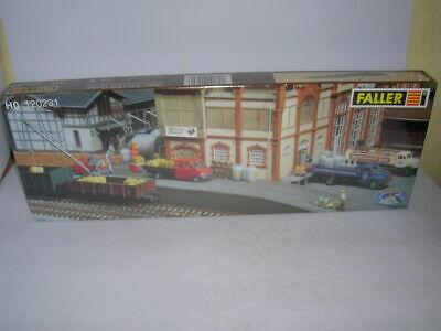 Faller Gauge H0 Loading Dock with Crane 1:87 Kit Kit Art 120231