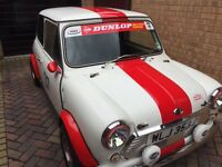 Classic mini Morris gt 1970s engine upgraded 1300cc red and white m o t end of march