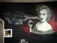 Mural artist with many years of experience. #spray art #airbrush art #graffiti #digital design