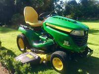 "John Deere X590 Ride on mower - 48"" Deck with Mulch Control - power steering"