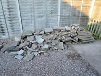 Rubble mostly broken slabs free to collector
