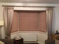 Full length curtains with pole and tie backs