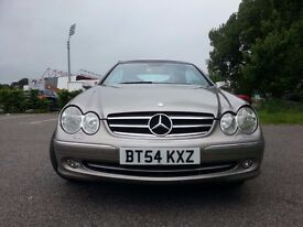 MERCEDES CLK 240. CONVERTIBLE..NEW MOT..WARRANT..LOW MILEAGE.