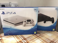 PLAYSTATION 4 500GB SLIM CONSOLE - BRAND NEW AND SEALED PS4 -BLACK -WHITE