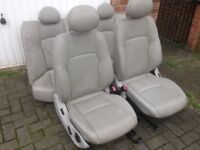 MERCEDES C200 05 SALOON COMPLETE LEATHER INTERIOR SEATS