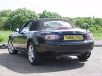 MAZDA MX5 mrk3 , Convertible , 56 plate 1.8 petrol, in brilliant black