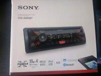 SONY DSX-A400BT car radio/digital media player, hardly used!
