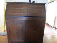 Oak Bureau/desk with drop front