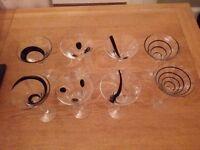LSA black jazz martini glasses