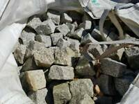 Granite setts cobbles 4 inch square