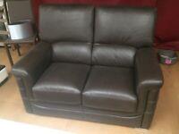 Ex-display Brown Italian Leather Sofa Set
