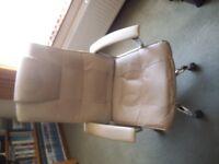office chair , cream