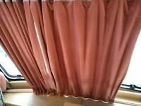 Caravan curtain pelment and track