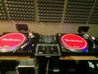 Techics 1210 mk5g x 2 and rane mixer ttm56s
