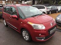2009/09 CITROEN C3 PICASSO 1.6 HDi 8V EXCLUSIVE 5 DOOR,RED,VERY LOW MILEAGE,SERVICE HISTORY