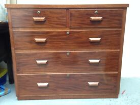 Vintage Retro Mid-century solid wood chest of drawers made in Sweden