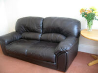 Good quality leather settee. Free to a good home.