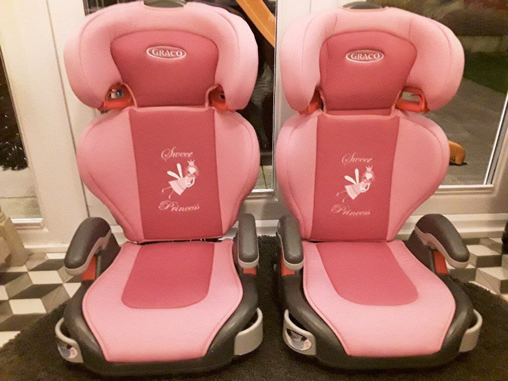 GRACO JUNIOR MAXI SWEET PRINCESS CAR SEATS X2