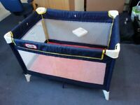 Used children, baby kid foldable travel bed cot from Little Tikes