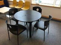 Black Table and chairs £40