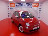 Fiat 500 (COLOUR THERAPY)(£30.00 ROAD TAX) FREE MOT'S AS LONG AS YOU OWN THE CAR!!! (red) 2014