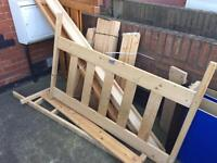 Bed frames. Single bed and double bed