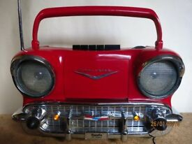 Randix 57 Chevy AM/FM Radio Cassette Player CR-1957 Chevrolet
