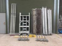 Lewis 10.2m Fully Complete Aluminium Scaffold Tower like Boss Youngman With Extra Wheel Set