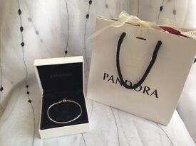 Genuine Pandora bracelet 19cm with box and bag