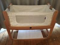 SnuzPod bedside crib / co-sleeping cot (natural)