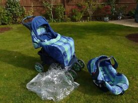 Push chair and baby carrier combo by Mothercare