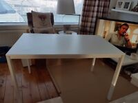 Melltrop white ikea dining table