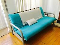Double sofa bed, used