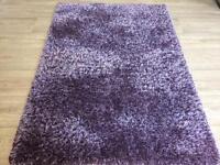 Violet endurance fine shaggy rug from scs