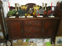 VINTAGE ORNATE MAHOGANY SIDEBOARD. MANY FEATURES. VIEWING / DELIVERY AVAILABLE