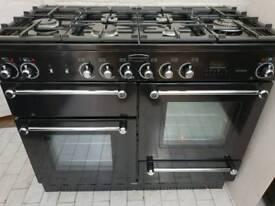 Rangemaster Kitchener 110 Dual Fuel Range Cooker in Black 110CM