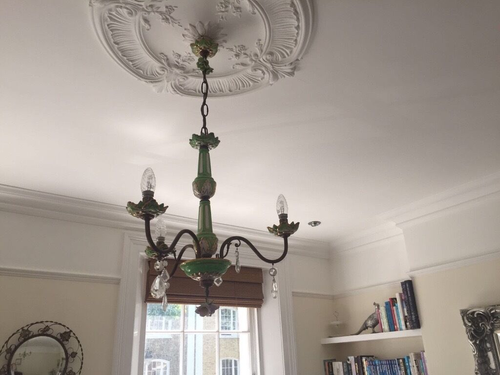 Antique ceramic chandelier free to collect in n1 in islington antique ceramic chandelier free to collect in n1 arubaitofo Choice Image