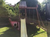 Plum wooden swashbuckler ship outdoor playcentre