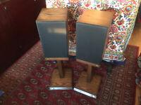 Pair Vintage CASTLE Durham II Stereo 2 Way Speakers 75W bookshelf or stand mount